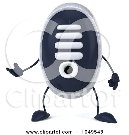 Royalty-Free (RF) Clip Art Illustration of a 3d Sneaker Shoe Character Facing Front And Gesturing by Julos