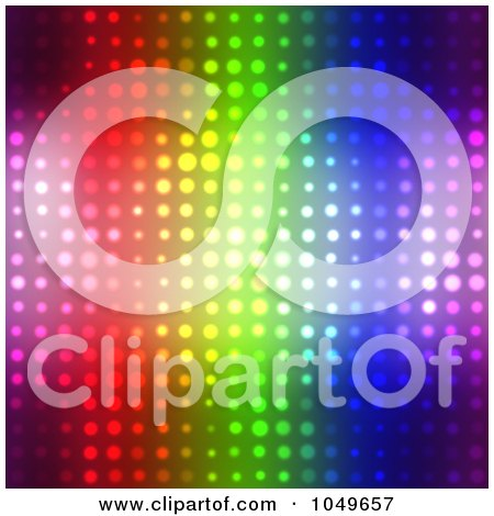 Royalty Free (RF) Clip Art Illustration of a Seamless Colorful Halftone Background by Arena Creative