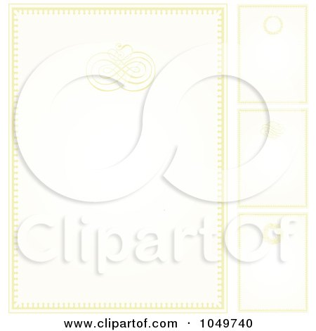 RoyaltyFree RF Clip Art Illustration of a Digital Collage Of Pastel