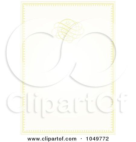 Clip Art Illustration of a Pastel Golden Wedding Invitation Background