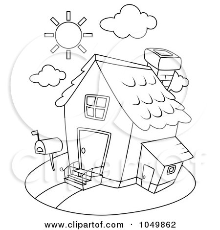 Clip Art Houses Free. Royalty-free clipart