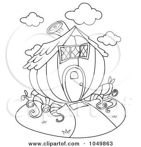 Clipart of a Hanging Wooden Home