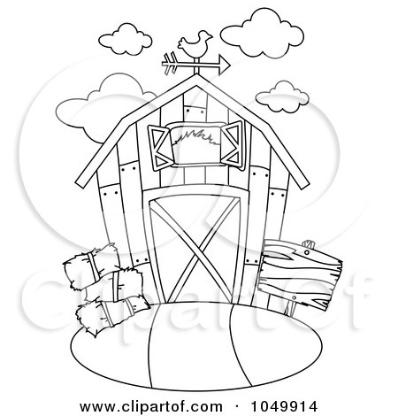 royalty free rf clip art illustration of a coloring page outline of a barn by bnp design studio