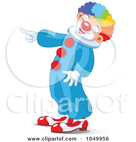 Royalty-Free (RF) Clip Art Illustration of a Clown Laughing And Pointing by Pushkin