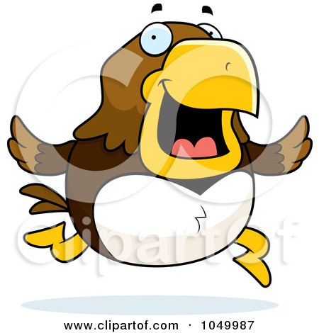 Royalty-Free (RF) Clip Art Illustration of a Hawk Running by Cory Thoman