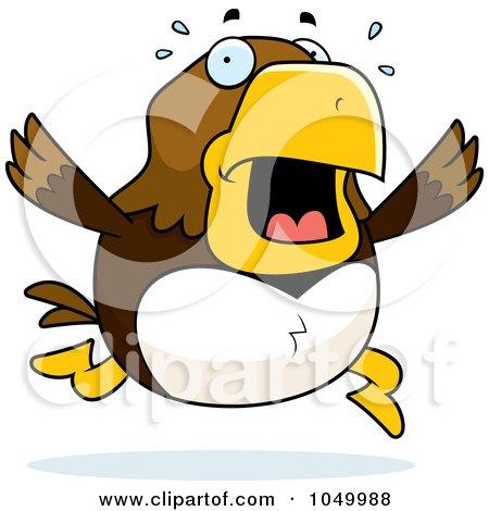 Royalty-Free (RF) Clip Art Illustration of a Hawk Panicking by Cory Thoman