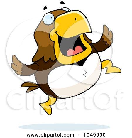 Royalty-Free (RF) Clip Art Illustration of a Hawk Jumping by Cory Thoman
