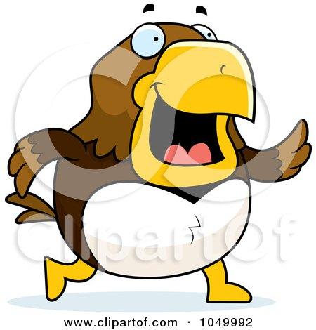 Royalty-Free (RF) Clip Art Illustration of a Hawk Walking by Cory Thoman