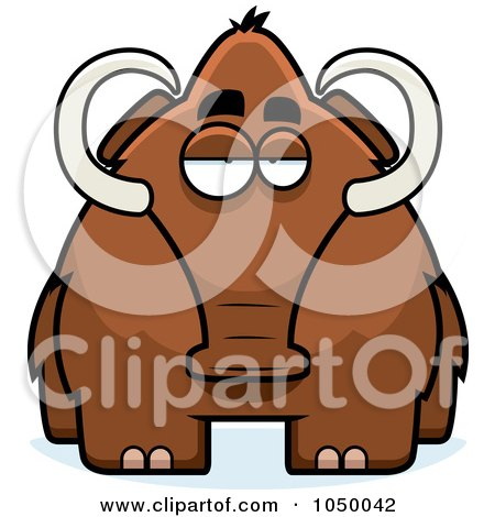 Royalty-Free (RF) Clip Art Illustration of a Woolly Mammoth by Cory Thoman