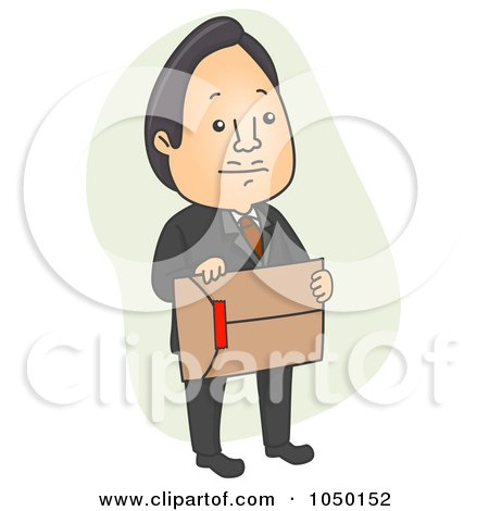 Royalty-Free (RF) Clip Art Illustration of a Businessman Carrying An Envelope With Red Tape by BNP Design Studio