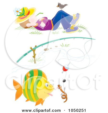 clipart fishing pole. A Fishing Pole And Napping