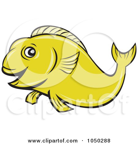 Royalty-Free (RF) Clip Art Illustration of a Green Koi Fish - 1 by patrimonio
