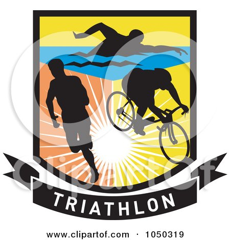 triathlon shield posters  art prints by patrimonio Ocean Fish Clip Art School of Fish Cartoon