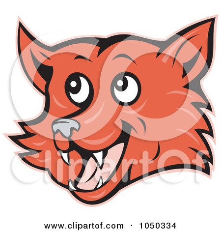 Royalty-Free (RF) Clip Art Illustration of a Fox Face by patrimonio