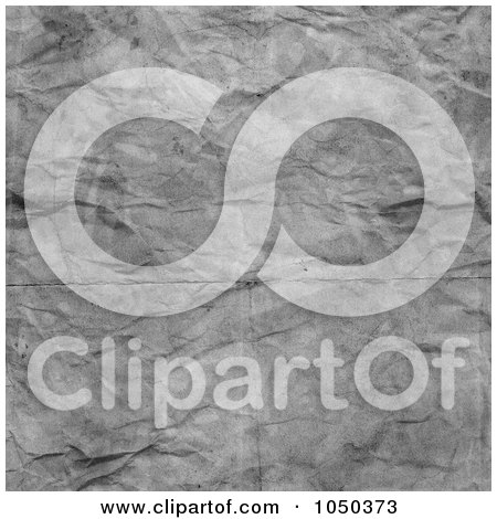 Royalty-Free (RF) Clip Art Illustration of a Gray Grungy Cumpled Paper Background by KJ Pargeter