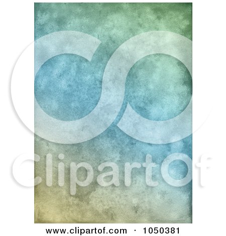 Royalty-Free (RF) Clip Art Illustration of a Grungy Blue And Green Textured Background by KJ Pargeter
