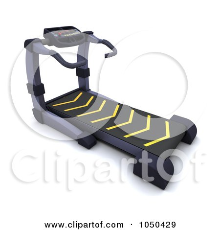 Royalty-Free (RF) Clip Art Illustration of a 3d Treadmill by KJ Pargeter