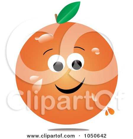 Royalty-Free (RF) Clip Art Illustration of a Juicy Orange Character by Pams Clipart