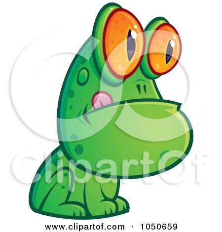 Royalty-Free (RF) Clip Art Illustration of a Frog Licking His Lips by John Schwegel
