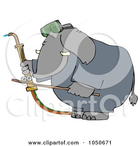 Royalty-Free (RF) Clip Art Illustration of a Welding Elephant by djart