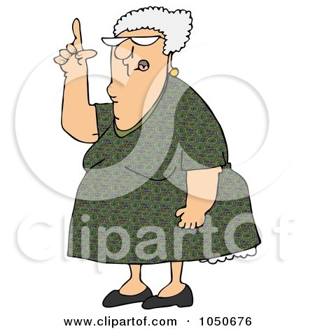Royalty-Free (RF) Clip Art Illustration of a Senior Woman Pointing Up by djart