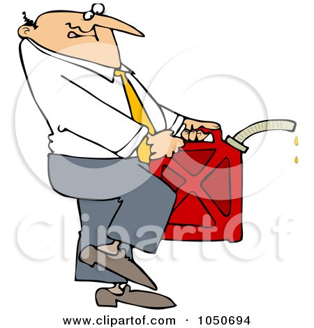 Royalty-Free (RF) Clip Art Illustration of a Businessman Carrying A Gas Can by djart