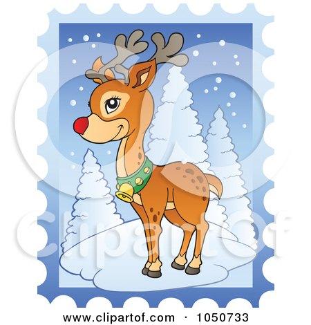 RoyaltyFree RF Christmas Stamp