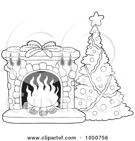 Christmas Stockings on Royalty Free  Rf  Christmas Fireplace Clipart  Illustrations  Vector