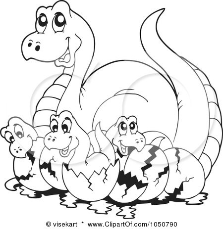 Coloring Page Of A Dinosaur With