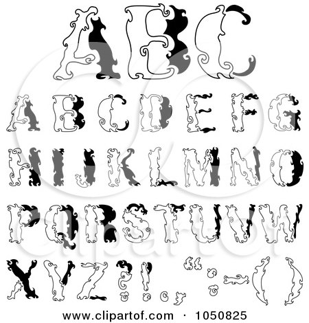 Girly Bubble Letter Alphabet Marcpous