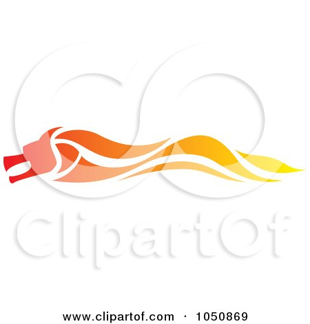 Royalty-Free (RF) Clip Art Illustration of a Fast Flaming Dragon Logo by Paulo Resende