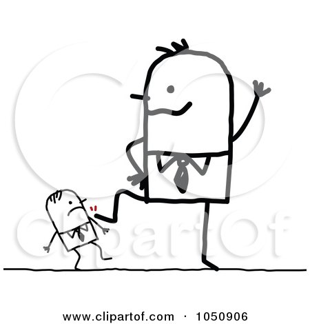 Royalty Free Rf Clip Art Illustration Of A Stick Businessman Being
