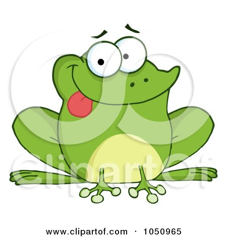 Royalty-Free Vector Clip Art Illustration of a Goofy Frog Sticking His Tongue Out by Hit Toon