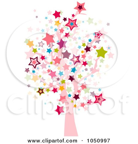 Royalty-Free Vector Clip Art Illustration of a Starry Tree by BNP Design Studio