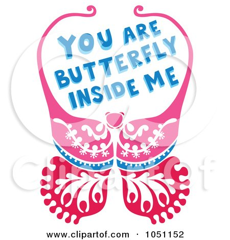 Royalty-Free Vector Clip Art Illustration of a Butterfly With You Are Butterfly Inside Me Text by Cherie Reve