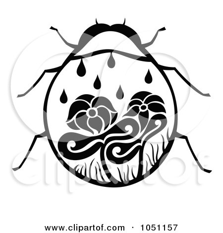 Royalty-Free Vector Clip Art Illustration of a Decorative Lady Bug by Cherie Reve