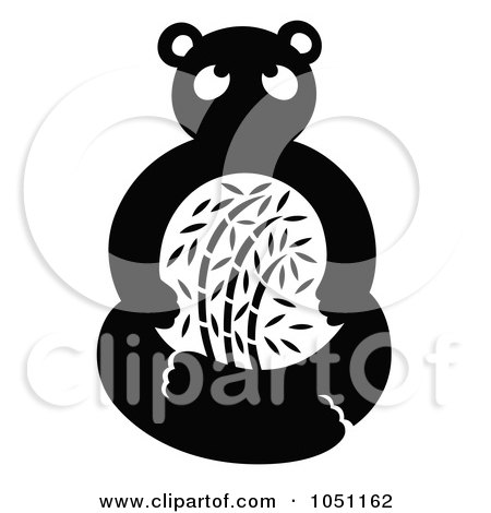 Royalty-Free Vector Clip Art Illustration of a Decorative Panda by Cherie Reve