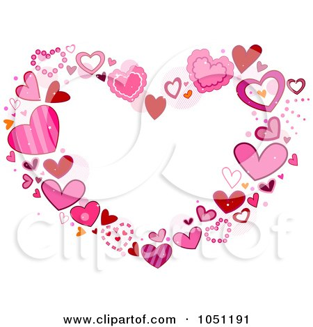 Free Love Picture Frames on Royalty Free Vector Clip Art Illustration Of A Heart Frame Of Pink