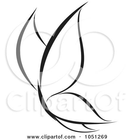 Royalty-Free Vector Clip Art Illustration of a Black And White Butterfly Logo - 1 by elena