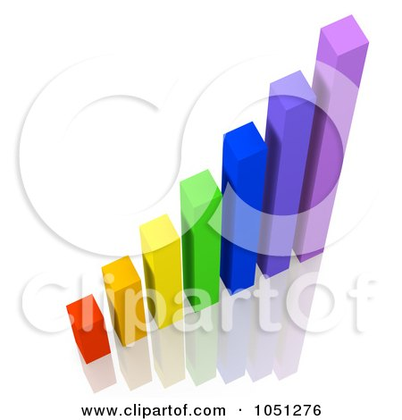 Royalty-Free 3d Clip Art Illustration of a 3d Colorful Bar Graph by ShazamImages