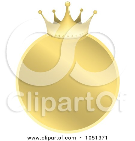 Free Vector Drawings on Royalty Free Vector Clip Art Illustration Of A Golden Crown Label   4