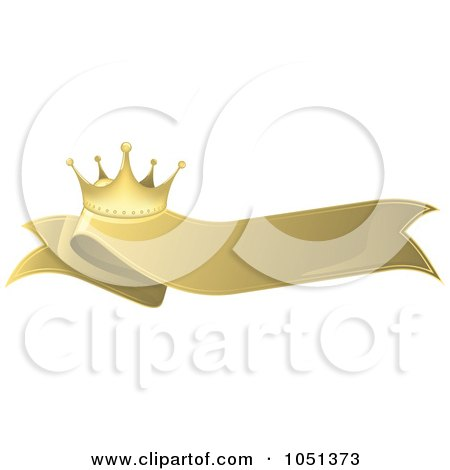Royalty-Free Vector Clip Art Illustration of a Golden Crown Label - 5 by dero