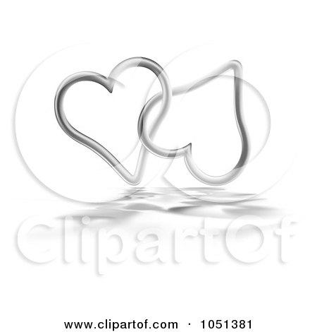 Silver Hearts Clip Art