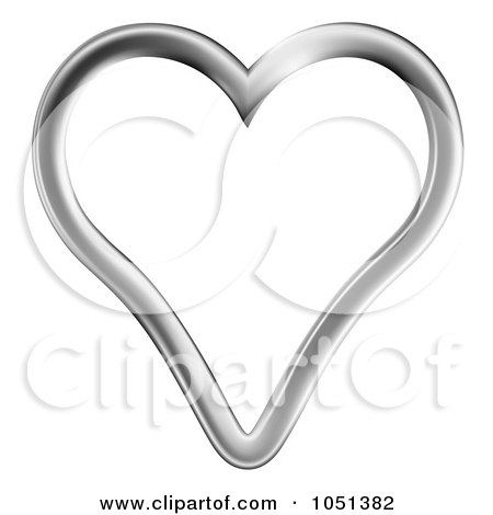 Royalty-Free (RF) Silver Heart Clipart, Illustrations ...