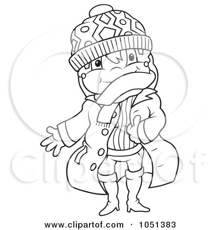 clip art winter clothes