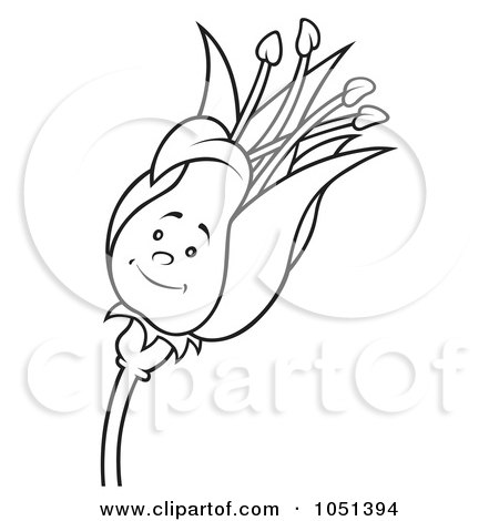 Clipart Flower Outline. Royalty-Free Vector Clip Art
