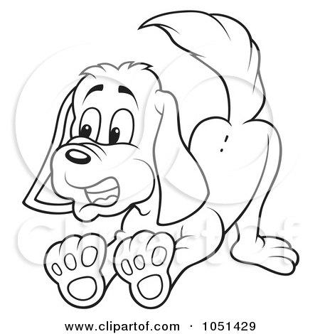 RoyaltyFree RF Barking Dog Clipart
