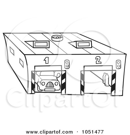 car garage coloring pages | Garage Coloring Outline Coloring Pages
