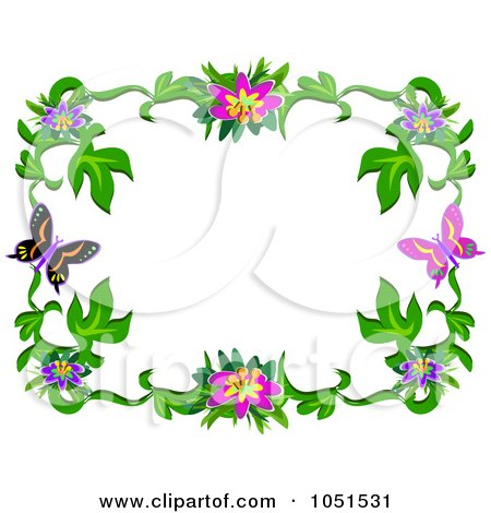 Picture  Flower on Royalty Free  Rf  Clipart Of Floral Frames  Illustrations  Vector
