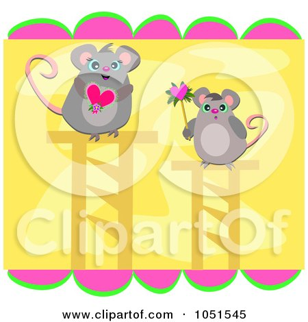 mice clip art. Royalty-Free Vector Clip Art